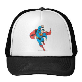 Superman Left Fist Raised Trucker Hat
