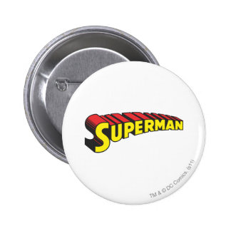Superman Letters Yellow/Red 6 Cm Round Badge
