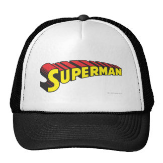 Superman Letters Yellow/Red Trucker Hat