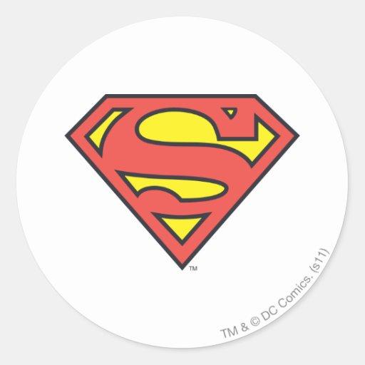 Superman Logo Round Sticker