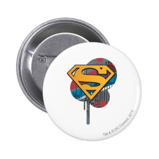 Superman Logo with paint 6 Cm Round Badge