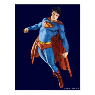 Superman Looking Down Postcard