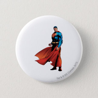 Superman Looks Front 6 Cm Round Badge