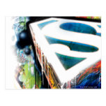 Superman Neon Graffiti Postcard