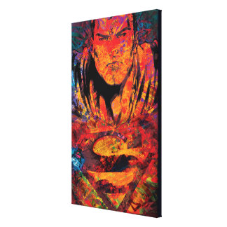 Superman Orange Grunge Canvas Prints