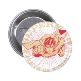 Superman Original, Genuine 6 Cm Round Badge