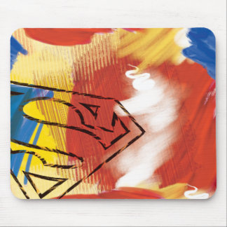 Superman Painted Logo Mouse Pad