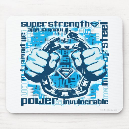 Superman Phrase Collage Mousepads