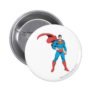Superman Posing 2 6 Cm Round Badge