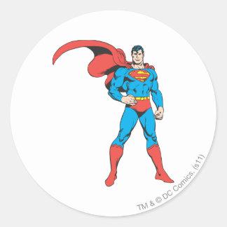 Superman Posing 2 Round Sticker