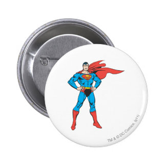 Superman Posing 6 Cm Round Badge