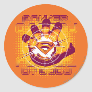 Superman Power of Good Round Sticker
