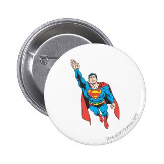 Superman Right Arm Raised 6 Cm Round Badge