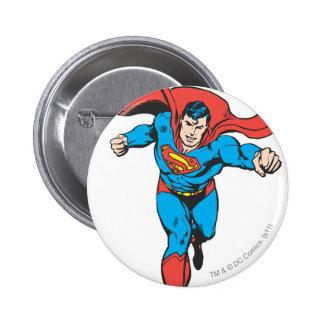 Superman Runs Forward 2 6 Cm Round Badge