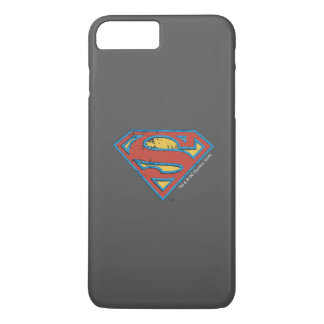 Superman S-Shield | Blue Outline Grunge Logo iPhone 7 Plus Case
