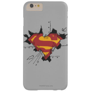 Superman S-Shield | Broken Metal Logo Barely There iPhone 6 Plus Case