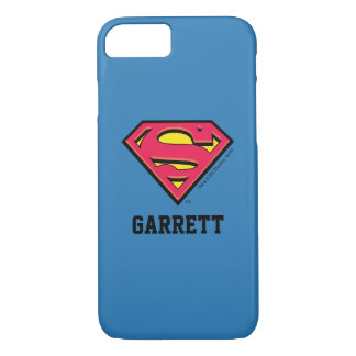 Superman S-Shield | Classic Logo 2 | Add Your Name iPhone 7 Case
