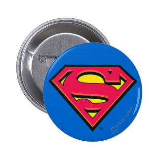 Superman S-Shield | Classic Logo 6 Cm Round Badge