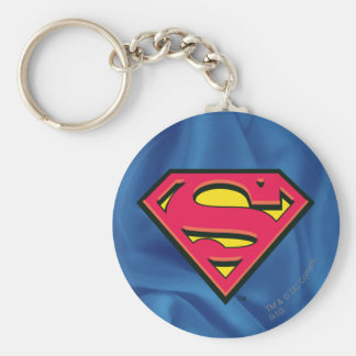 Superman S-Shield | Classic Logo Basic Round Button Key Ring