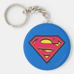 Superman S-Shield | Classic Logo Basic Round Button Key Ring