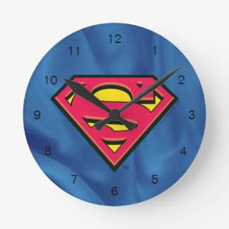 Superman S-Shield | Classic Logo Round Clock