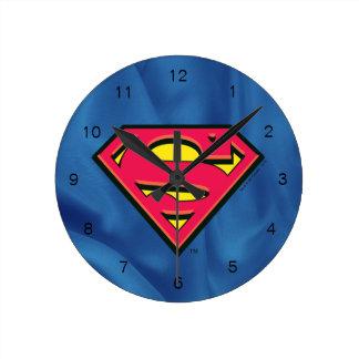 Superman S-Shield | Classic Logo Round Clock