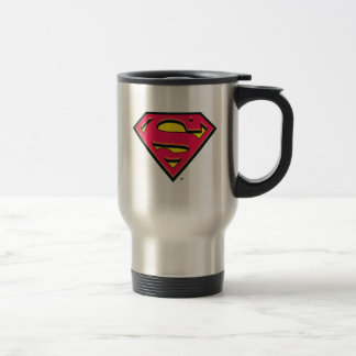 Superman S-Shield | Classic Logo Stainless Steel Travel Mug