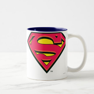 Superman S-Shield | Classic Logo Two-Tone Mug
