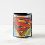 Superman S-Shield   Coloured Logo Two-Tone Mug