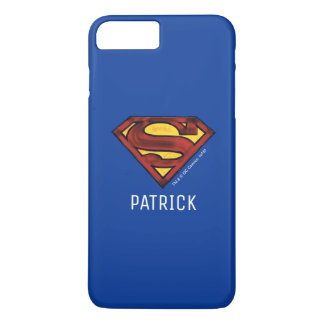 Superman S-Shield | Darkened Red Logo | Add Name iPhone 7 Plus Case
