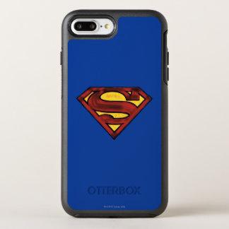 Superman S-Shield | Darkened Red Logo OtterBox Symmetry iPhone 7 Plus Case