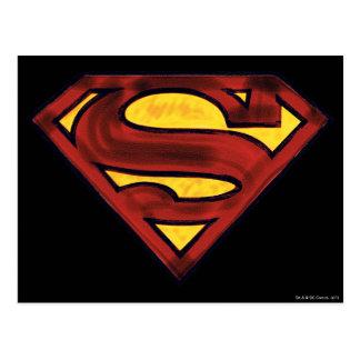 Superman S-Shield | Darkened Red Logo Postcard