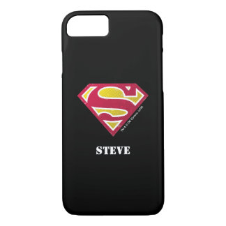Superman S-Shield | Distressed Dots Logo | Name iPhone 7 Case