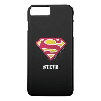 Superman S-Shield | Distressed Dots Logo | Name iPhone 7 Plus Case