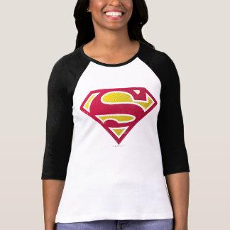 Superman S-Shield | Distressed Dots Logo T-Shirt