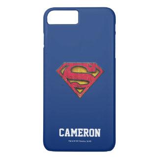 Superman S-Shield | Distressed Logo | Add Name iPhone 7 Plus Case