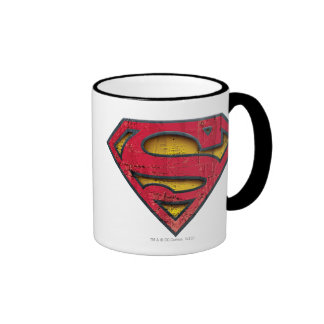 Superman S-Shield | Distressed Logo Ringer Mug
