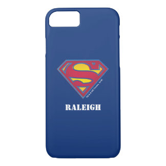 Superman S-Shield | Dot Logo | Add Your Name iPhone 7 Case