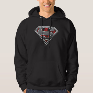 Superman S-Shield | Grey and Red City Logo Hoodie
