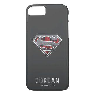 Superman S-Shield | Grey and Red City Logo | Name iPhone 7 Case