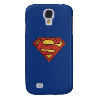 Superman S-Shield | Grunge Black Outline Logo Samsung Galaxy S4 Cover