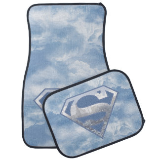 Superman S-Shield | Light Blue City Logo Car Mat