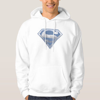 Superman S-Shield   Light Blue City Logo Hoodie
