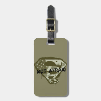 Superman S-Shield | Not Afraid - US Camo Logo Luggage Tag