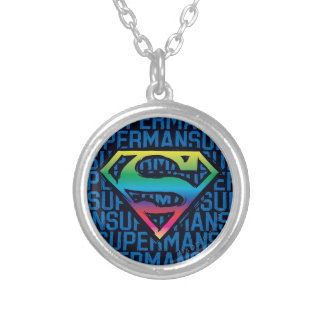 Superman S-Shield | Rainbow Logo Silver Plated Necklace