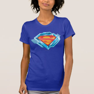 Superman S-Shield | Red and Blue Metal Logo T-Shirt