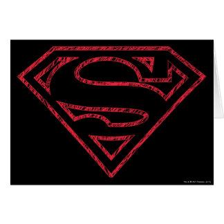 Superman S-Shield | Red Outline Logo Card
