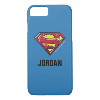 Superman S-Shield | Scratches Logo | Add Your Name iPhone 7 Case