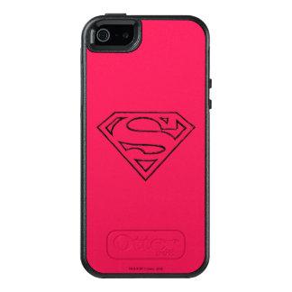 Superman S-Shield | Simple Black Outline Logo OtterBox iPhone 5/5s/SE Case