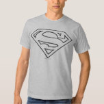 Superman S-Shield | Simple Black Outline Logo Shirt